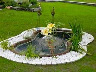 Laghi giardino impianti irrigazione interrati fontane moderne for Pompe per laghetti da giardino